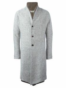 Individual Sentiments double lapel coat - Grey