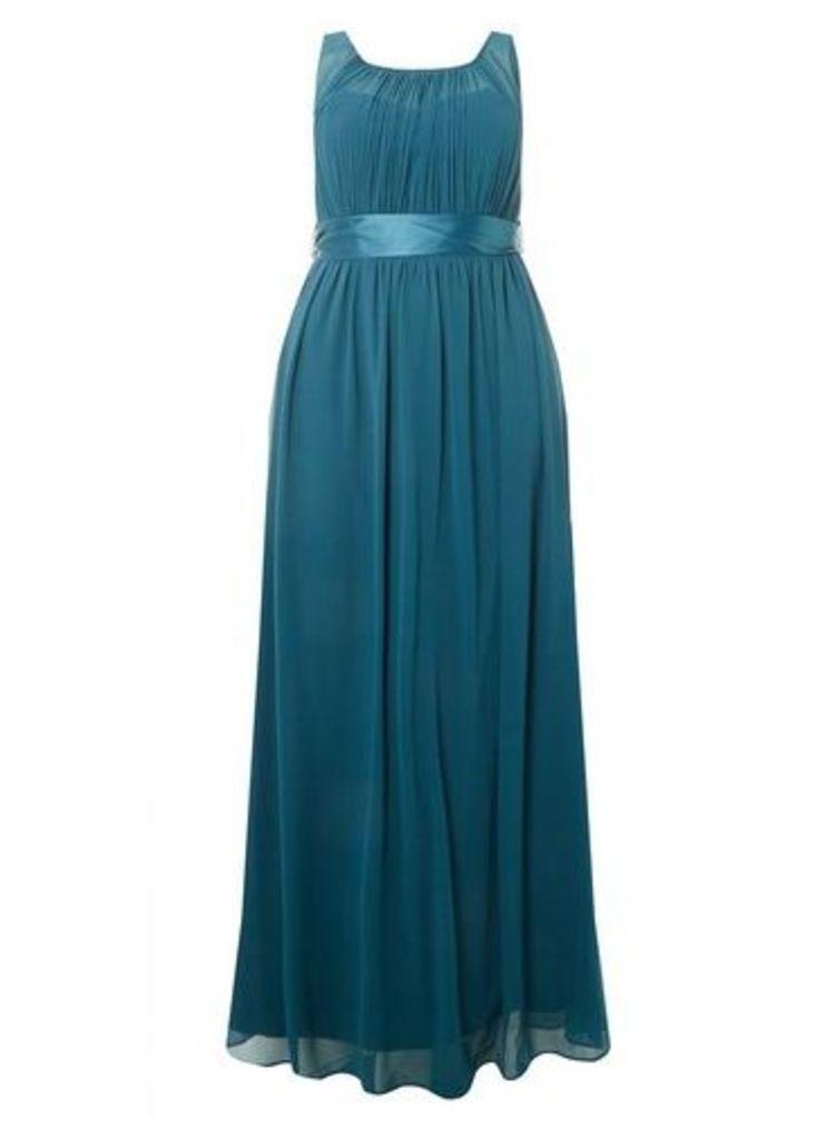 Womens **Showcase Curve Green Natalie Maxi Dress- Green, Green