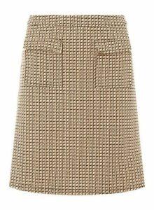 Womens **Tall Camel Pocket Mini Skirt- White, White