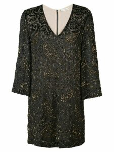 Alice+Olivia V-neck glitter dress - Black