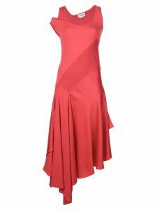 Monse asymmetric midi dress - Red