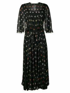 Sonia Rykiel floral cape-style dress - Black
