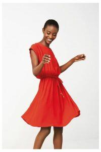 Womens Next Red Drawstring T-Shirt Dress -  Red