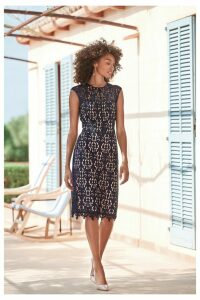Womens Next Navy Lace Dress -  Blue