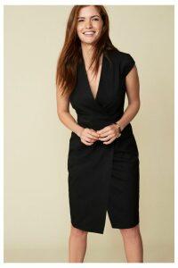 Womens Next Black Tailored Fit Suit: Wrap Detail Dress -  Black