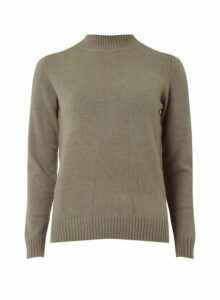 Womens **Vila Grey Turtle Neck Knitted Top- Grey, Grey