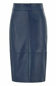 Regular-fit pencil skirt in lambskin