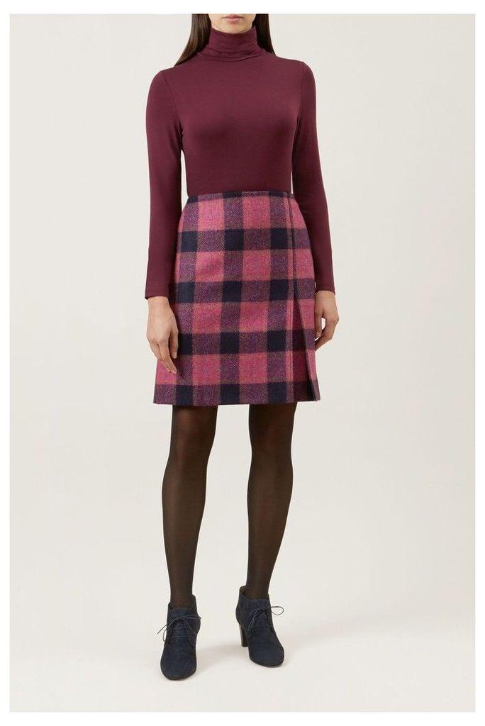 Womens Hobbs Pink Avery Kick Pleat Skirt -  Pink