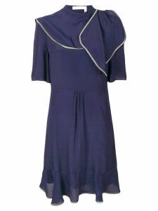 See By Chloé contrast stitching dress - Blue