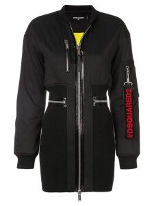 Dsquared2 bomber dress - Black