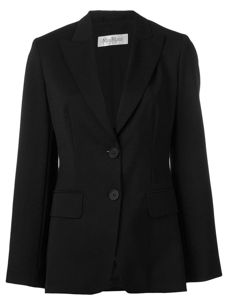 Max Mara single breasted blazer - Black