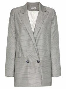 Ganni Merkel double-breasted checked blazer - Grey