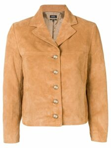 A.P.C. cropped jacket - Brown