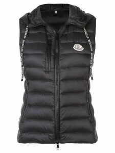 Moncler padded hooded waistcoat - Black
