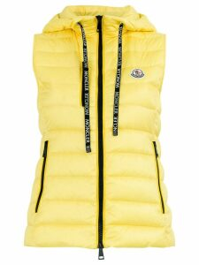 Moncler padded hooded waistcoat - Yellow
