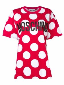 Moschino maxi polka dot T-shirt - Red