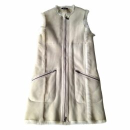 Beige Leather Coat