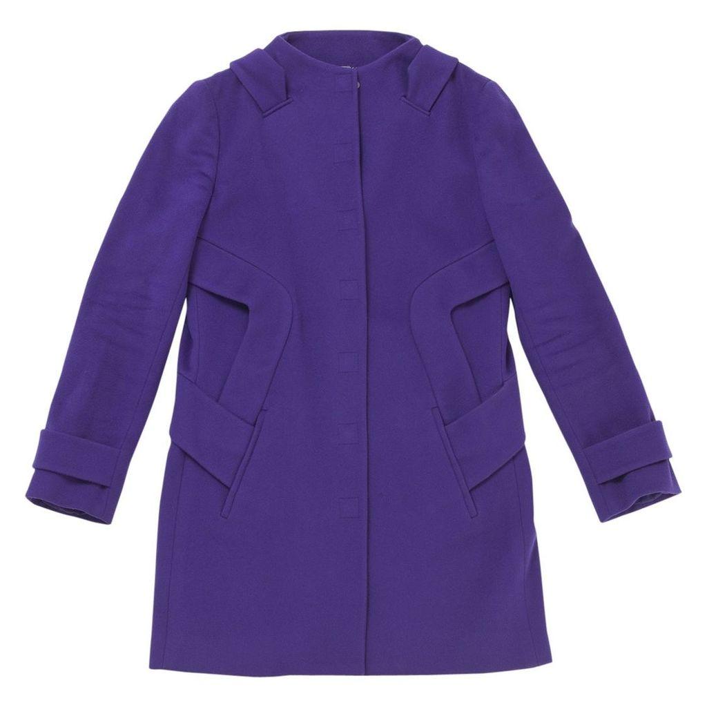 Purple Wool Coat