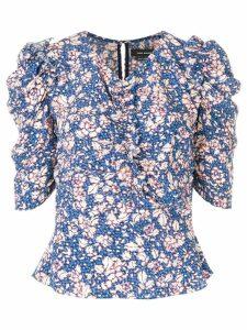 Isabel Marant V-neck printed blouse - Blue