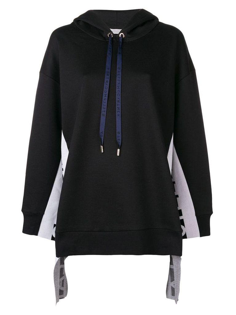Stella McCartney side logo hoodie - Black