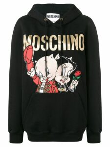 Moschino Porky & Petunia Pig hoodie - Black