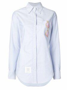 Thom Browne Sequin Sunglasses Oxford Shirt - Blue