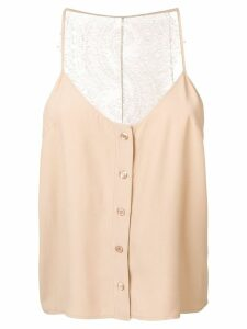 Almaz lace back tank top - Neutrals