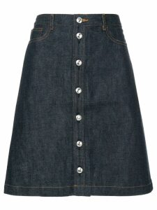 A.P.C. buttoned denim skirt - Blue