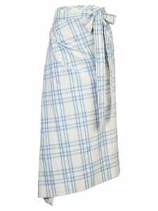 Rosie Assoulin draped checked skirt - White