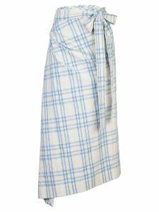 Rosie Assoulin draped checked skirt - White
