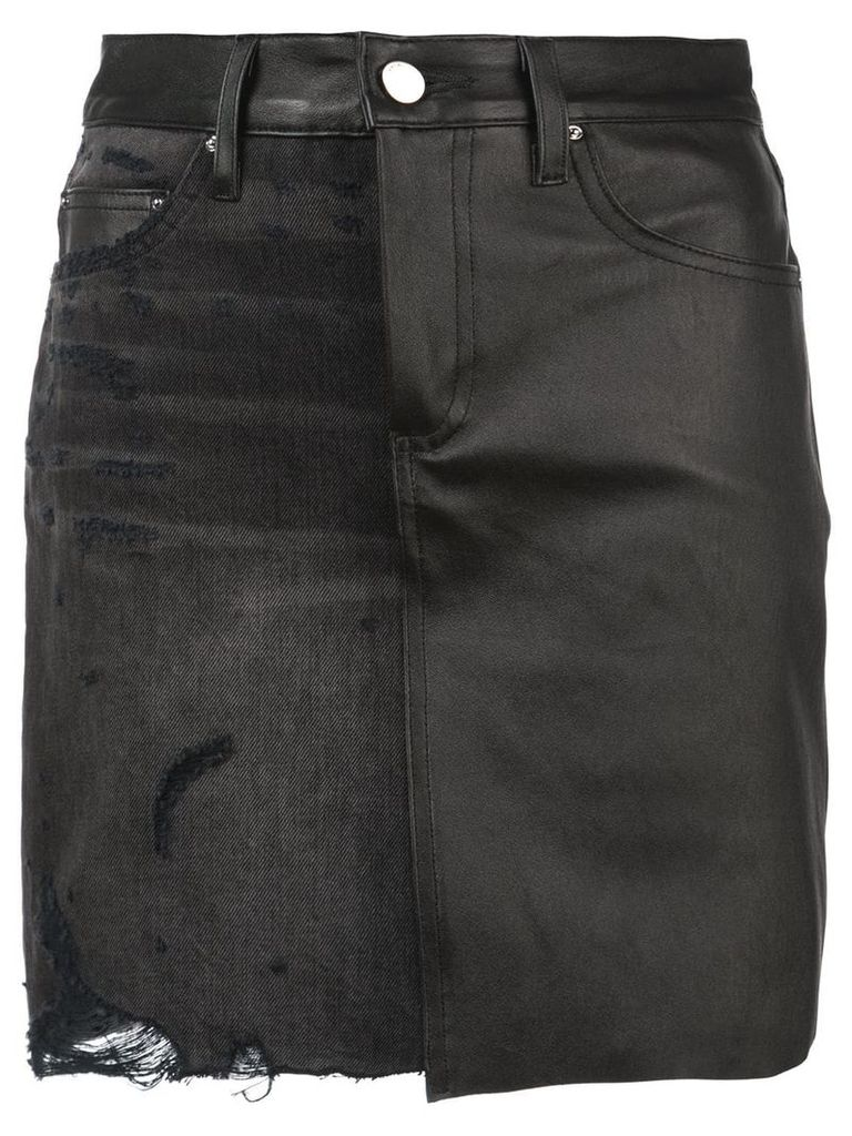 Amiri distressed patched skirt - Black