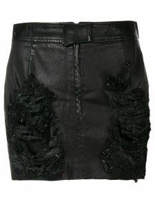 Almaz distressed mini skirt - Black