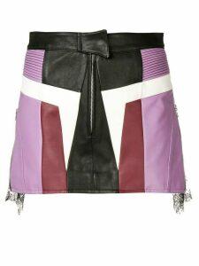 Almaz panelled mini skirt - Black