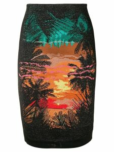 Balmain sunset skirt - Black