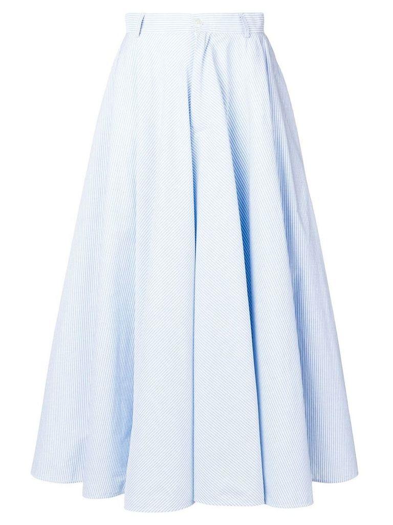 Mm6 Maison Margiela striped full skirt - Blue