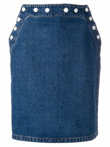 MSGM sailor denim skirt - Blue