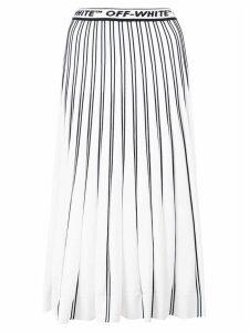 Off-White pleated logo skirt
