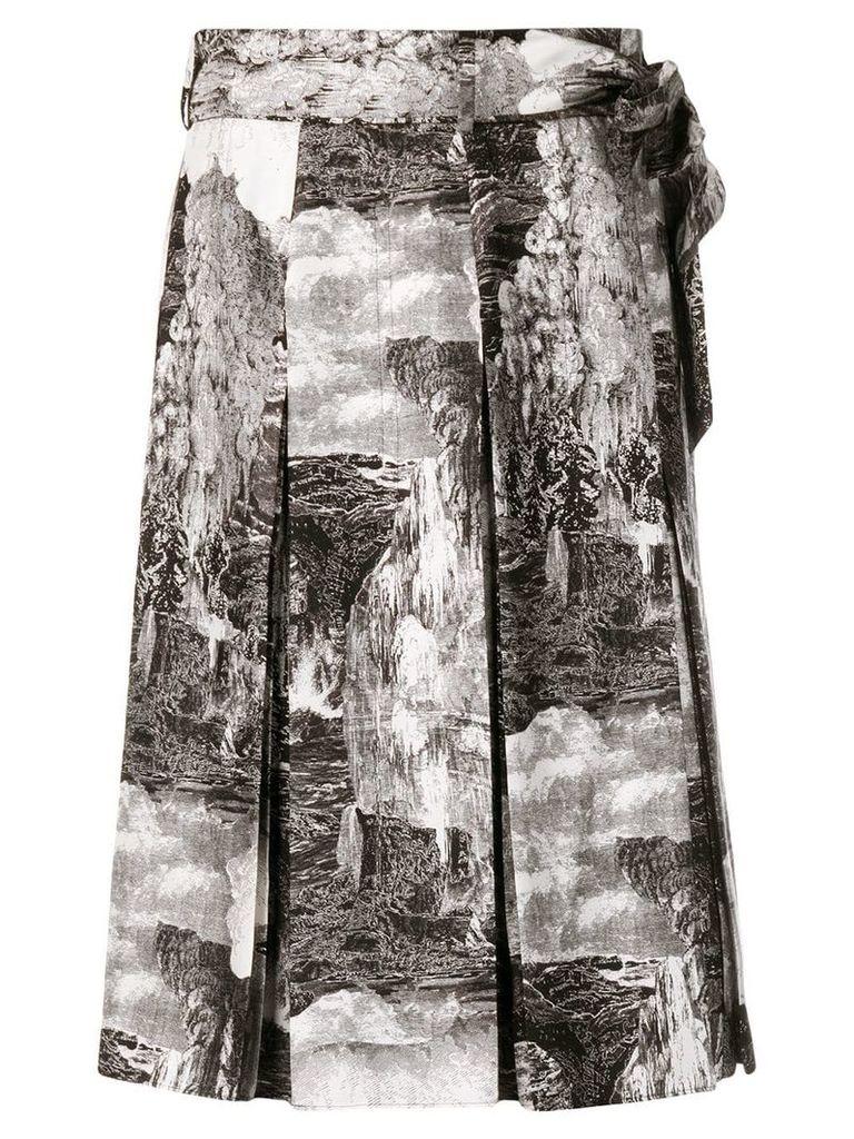 Burberry Dreamscape print skirt - Black