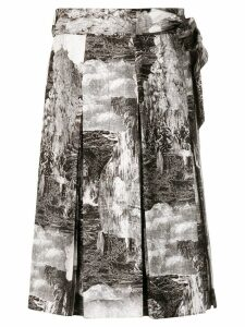 Burberry Dreamscape print skirt - Black
