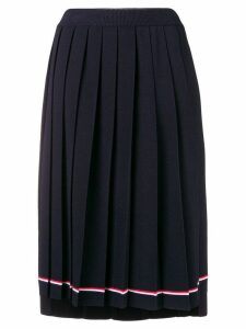 Thom Browne Tipping Stripe Long Pleated Skirt - Blue