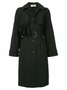 Ports 1961 fringed detail trench coat - Black