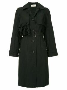 Ports 1961 fringed detail trench coat - Black