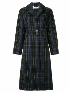 Ports 1961 checked trench coat - Blue