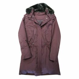 Burgundy Synthetic Coat