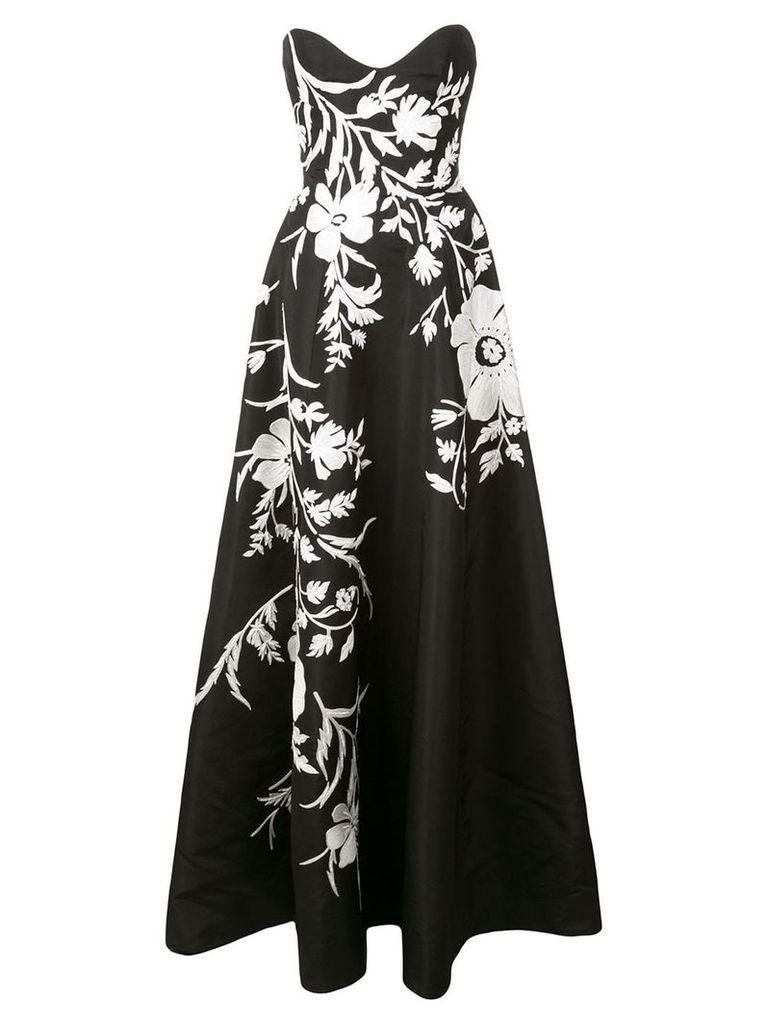 Carolina Herrera floral flared maxi dress - Black