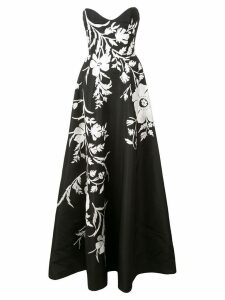 Carolina Herrera floral flared maxi dress - Black