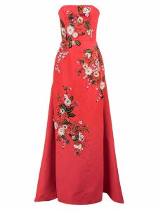 Carolina Herrera floral embroidered evening dress