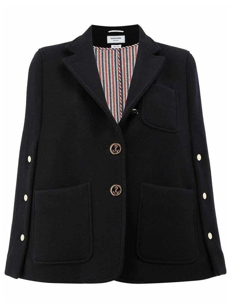 Thom Browne military cape jacket - Blue