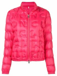 Moncler logo quilted padded jacket - Pink
