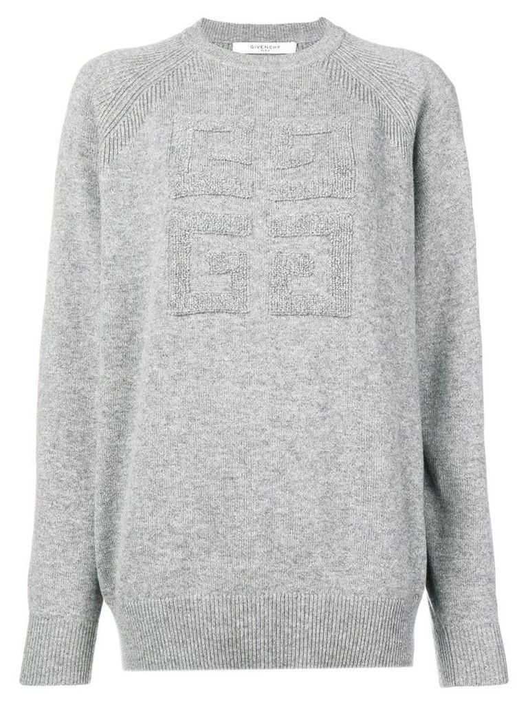Givenchy cashmere logo sweater - Grey